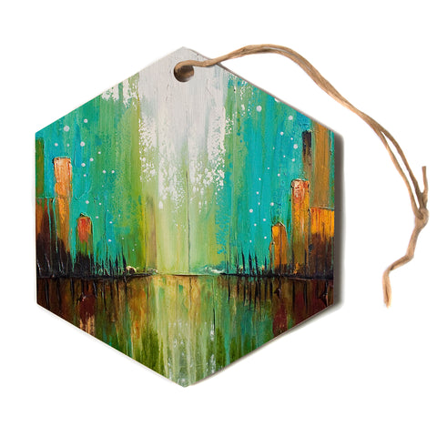 "steven dix ""Twilight Imaginings""  Hexagon Holiday Ornament"