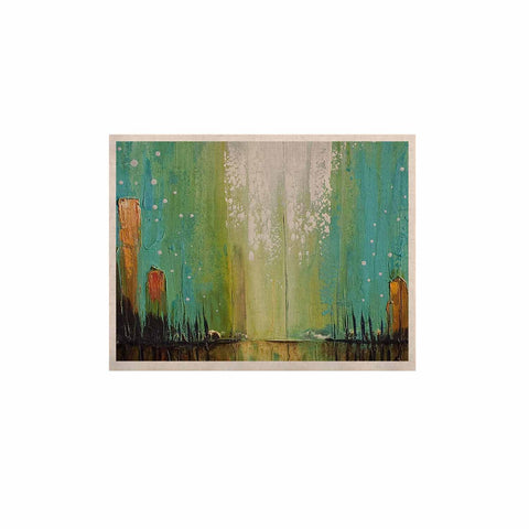 "Steven Dix ""Twilight Imaginings "" Teal Copper KESS Naturals Canvas (Frame not Included)"