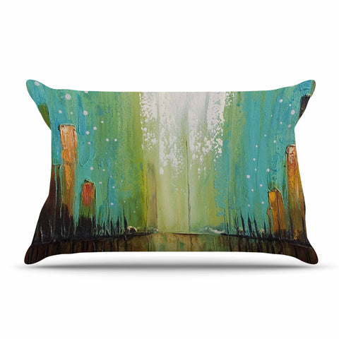 "Steven Dix ""Twilight Imaginings "" Teal Copper Pillow Sham"