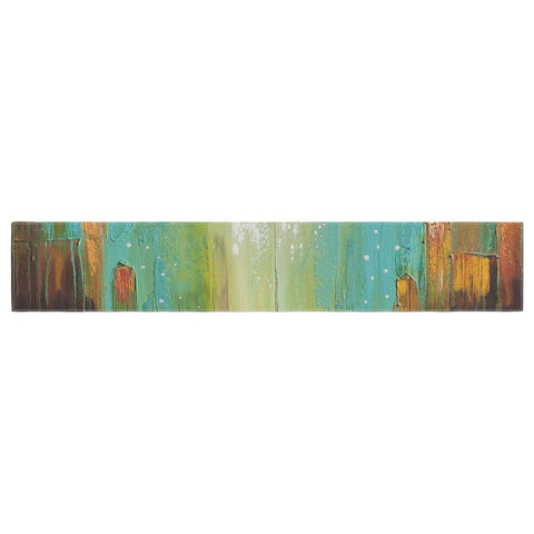 "Steven Dix ""Twilight Imaginings "" Teal Copper Table Runner"