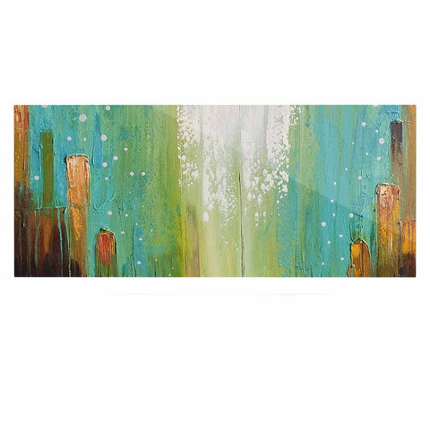 "Steven Dix ""Twilight Imaginings "" Teal Copper Luxe Rectangle Panel"