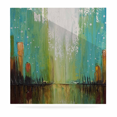 "Steven Dix ""Twilight Imaginings "" Teal Copper Luxe Square Panel"