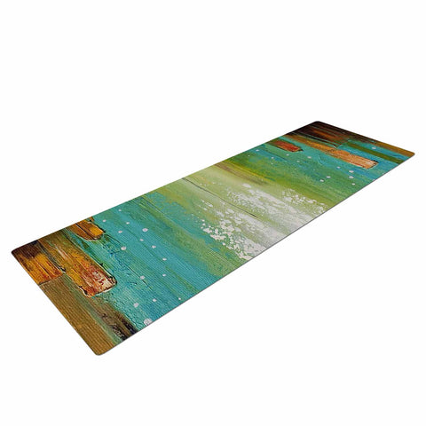 "Steven Dix ""Twilight Imaginings "" Teal Copper Yoga Mat"