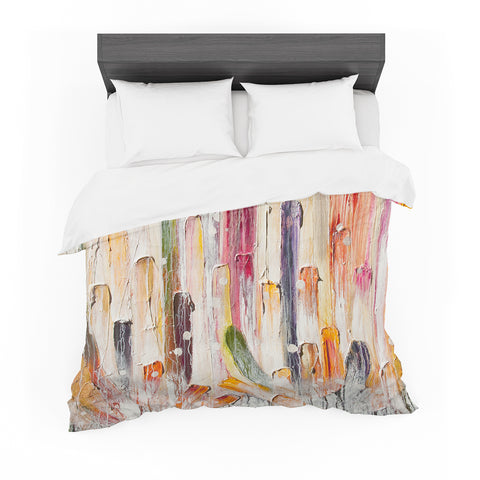 "Steven Dix ""Candy Icing"" Multicolor White Painting Featherweight Duvet Cover"