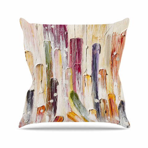 "Steven Dix ""Candy Icing"" Purple Red Outdoor Throw Pillow"