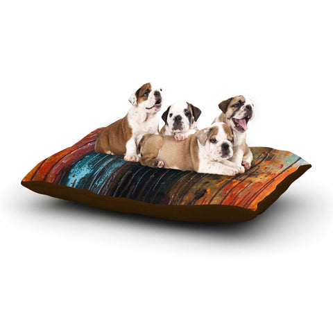 "Steven Dix ""There's Fire"" Black Orange Painting Dog Bed"
