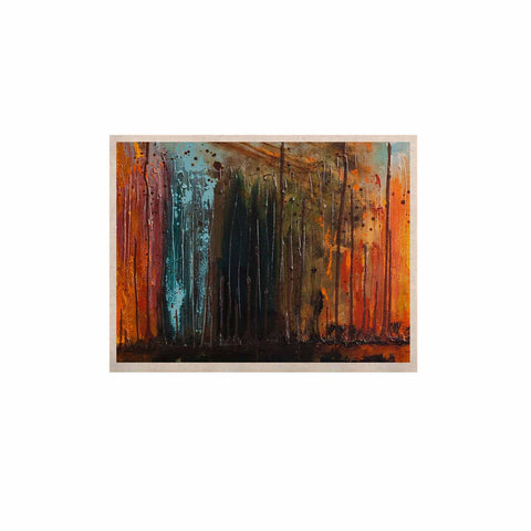 "Steven Dix ""There's Fire"" Black Orange Painting KESS Naturals Canvas (Frame not Included)"