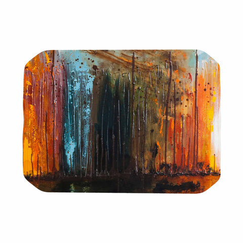 "Steven Dix ""There's Fire"" Black Orange Painting Place Mat"