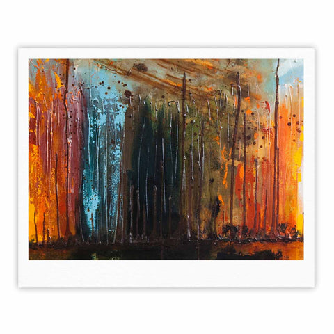 "Steven Dix ""There's Fire"" Black Orange Painting Fine Art Gallery Print"