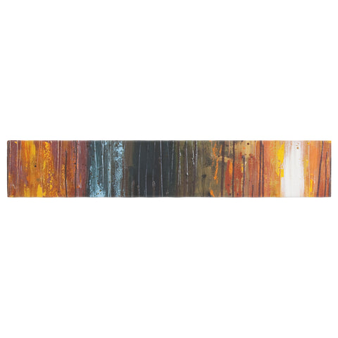 "Steven Dix ""There's Fire"" Black Orange Painting Table Runner"