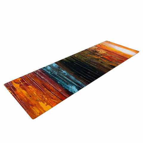 "Steven Dix ""There's Fire"" Black Orange Painting Yoga Mat"