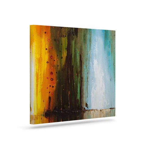 "Steven Dix ""Kinds Of Tranquil"" Teal Orange Painting Canvas Art"