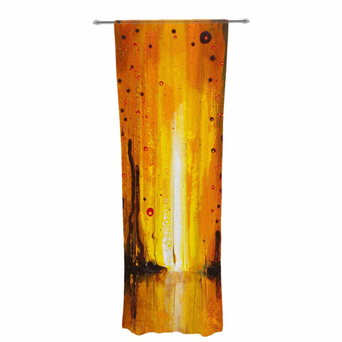 "Steven Dix ""Kinds Of Tranquil"" Teal Orange Painting Decorative Sheer Curtain"