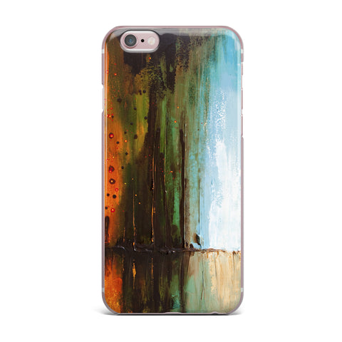 "Steven Dix ""Kinds Of Tranquil"" Teal Orange Painting iPhone Case"