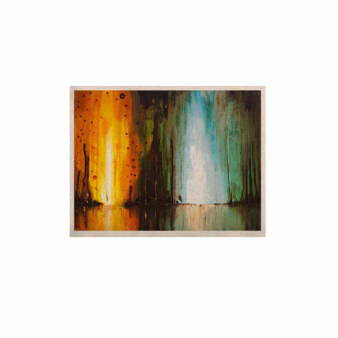"Steven Dix ""Kinds Of Tranquil"" Teal Orange Painting KESS Naturals Canvas (Frame not Included)"