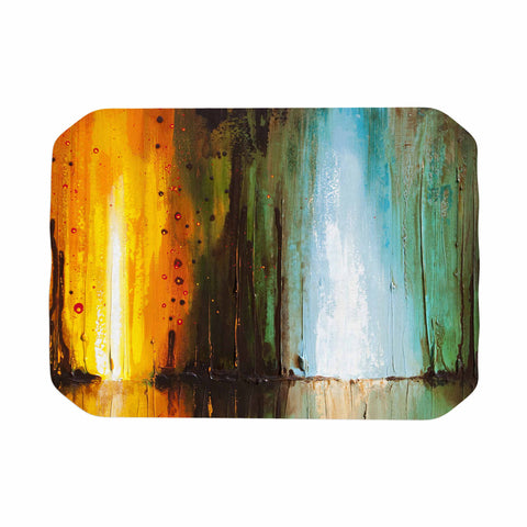 "Steven Dix ""Kinds Of Tranquil"" Teal Orange Painting Place Mat"