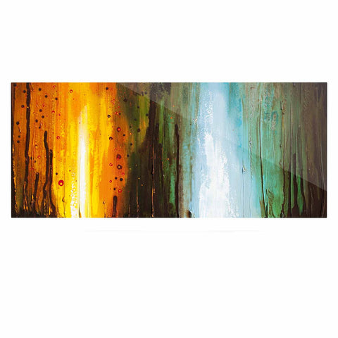 "Steven Dix ""Kinds Of Tranquil"" Teal Orange Painting Luxe Rectangle Panel"