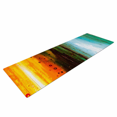 "Steven Dix ""Kinds Of Tranquil"" Teal Orange Painting Yoga Mat"