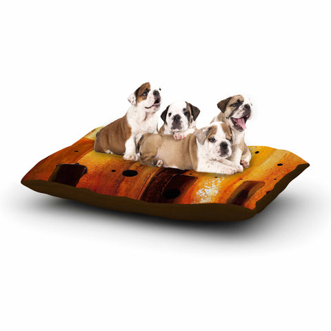 "Steven Dix ""Falling Embers"" Orange Black Painting Dog Bed"