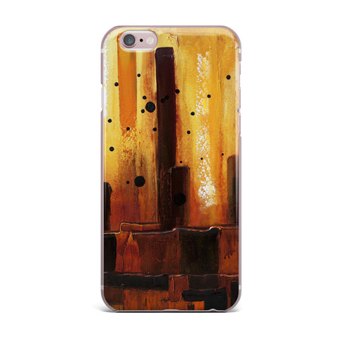 "Steven Dix ""Falling Embers"" Orange Black Painting iPhone Case"