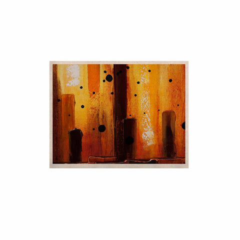"Steven Dix ""Falling Embers"" Orange Black Painting KESS Naturals Canvas (Frame not Included)"