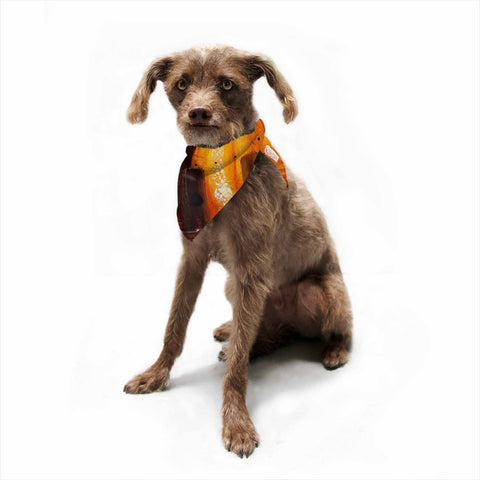"Steven Dix ""Falling Embers"" Orange Black Painting Pet Bandana"