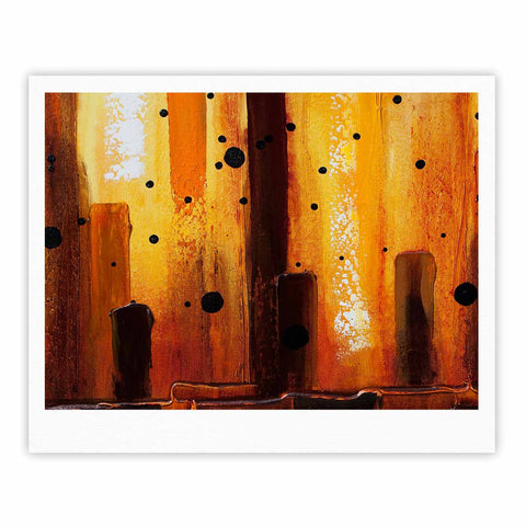 "Steven Dix ""Falling Embers"" Orange Black Painting Fine Art Gallery Print"