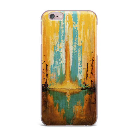 "Steven Dix ""Inception Or Birth"" Teal Orange iPhone Case"