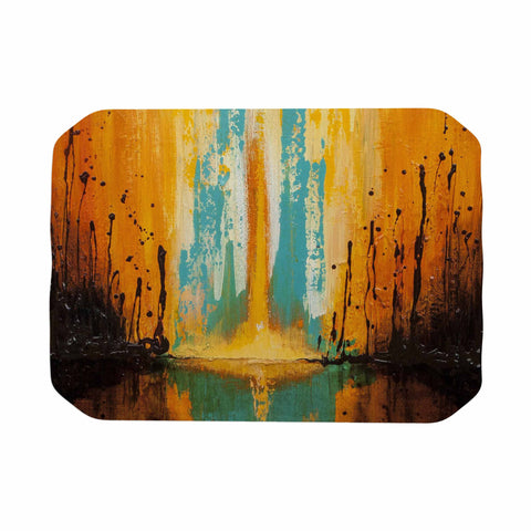 "Steven Dix ""Inception Or Birth"" Teal Orange Place Mat"