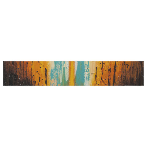 "Steven Dix ""Inception Or Birth"" Teal Orange Table Runner"