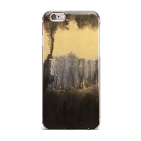"Steve Dix ""Between The Void"" Gold Black Painting iPhone Case"