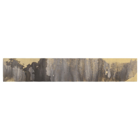 "Steve Dix ""Between The Void"" Gold Black Painting Table Runner"