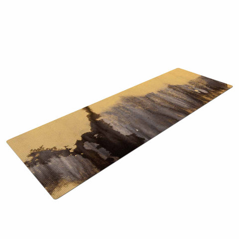"Steve Dix ""Between The Void"" Gold Black Painting Yoga Mat"