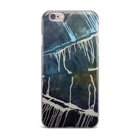"Steve Dix ""Busan Tonight"" Beige Blue Painting iPhone Case"