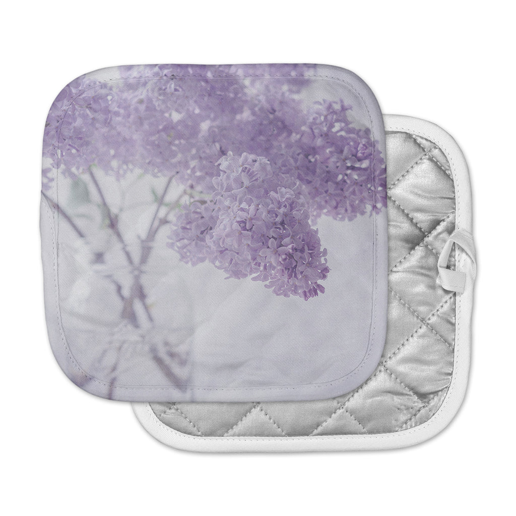 "Suzanne Harford ""Lilacs"" Purple Floral Pot Holder"