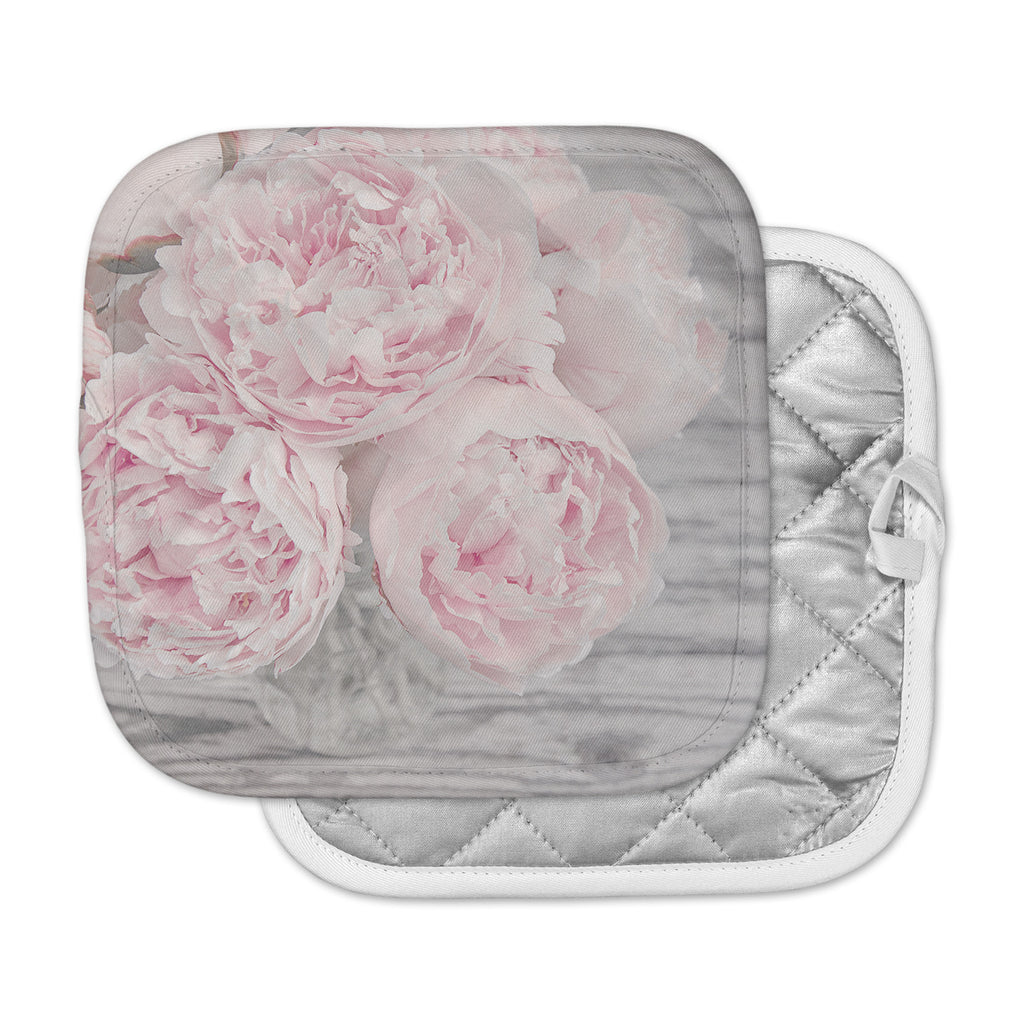 "Suzanne Harford ""Pink Peony Flowers"" Floral Photography Pot Holder"