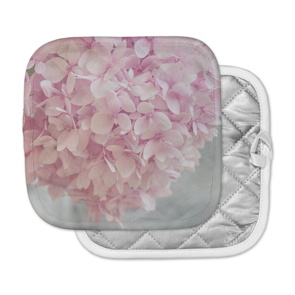 "Suzanne Harford ""Pastel Pink Hydrangea Flowers"" Pink Floral Pot Holder"