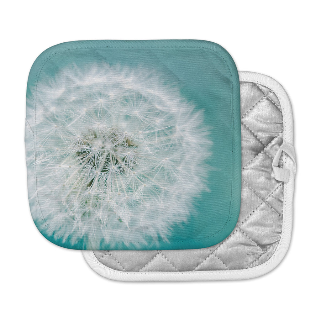 "Suzanne Harford ""Puff"" Teal White Photography Pot Holder"