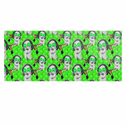 "Shirlei Patricia Muniz ""Good Vibes"" Green Vintage Luxe Rectangle Panel - KESS InHouse  - 1"