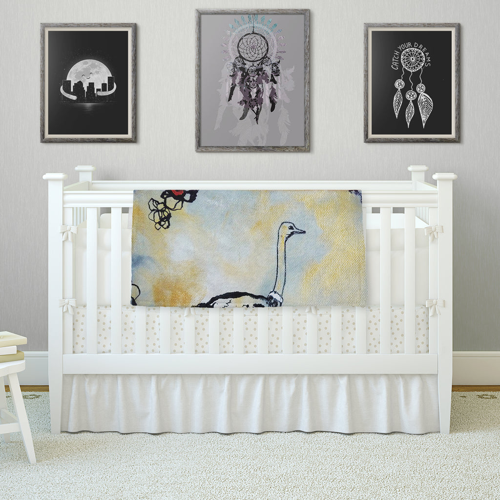 "Sonal Nathwani ""Ostrich"" Fleece Throw Blanket"