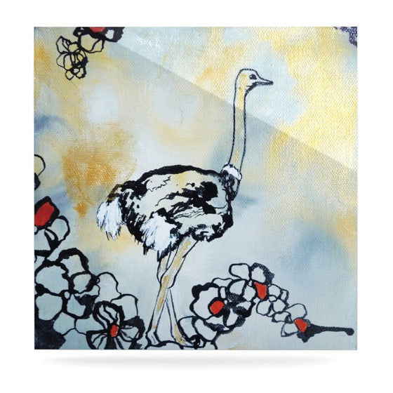 "Sonal Nathwani ""Ostrich"" Luxe Square Panel - KESS InHouse  - 1"