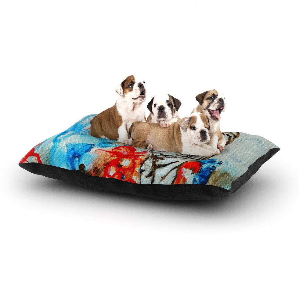 "Sonal Nathwani ""Tiger"" Dog Bed - KESS InHouse  - 1"