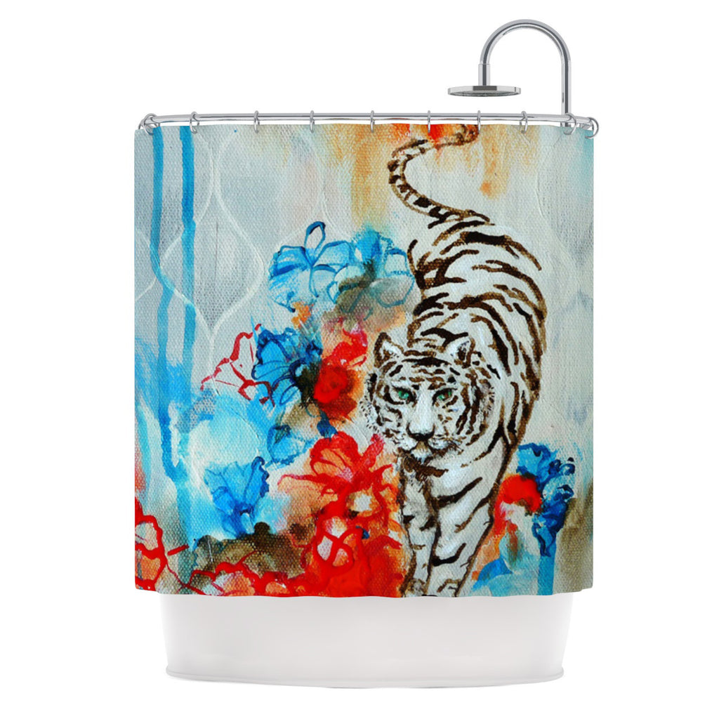 "Sonal Nathwani ""Tiger"" Shower Curtain - KESS InHouse"