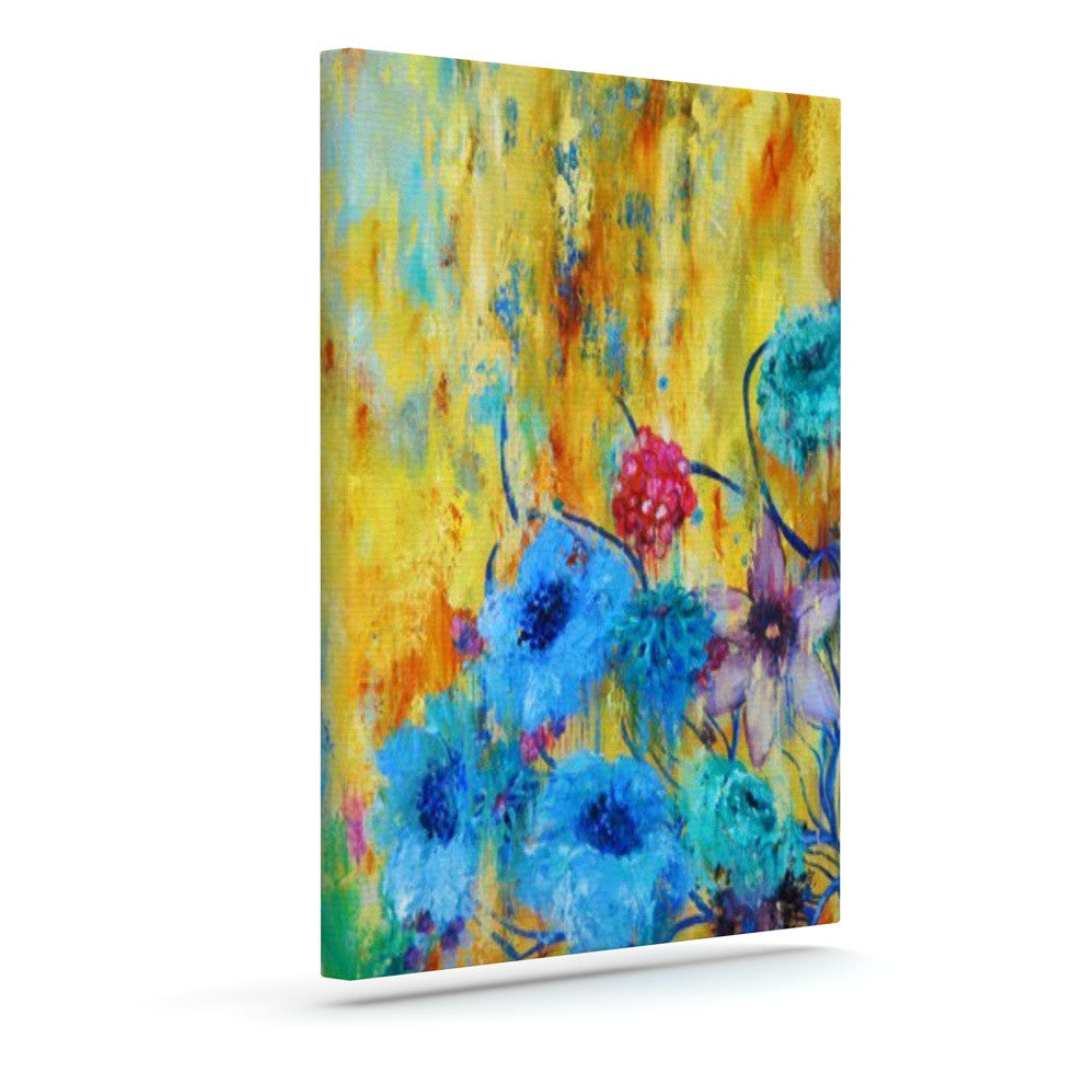 "Sonal Nathwani ""Cosmic Love Garden"" Outdoor Canvas Wall Art - KESS InHouse  - 1"