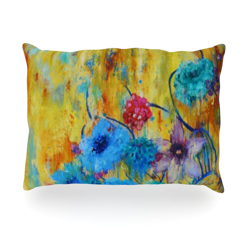 "Sonal Nathwani ""Cosmic Love Garden"" Oblong Pillow - KESS InHouse"