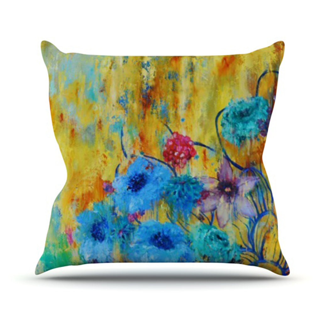 "Sonal Nathwani ""Cosmic Love Garden"" Outdoor Throw Pillow - KESS InHouse  - 1"