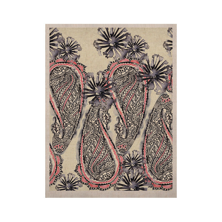"Sonal Nathwani ""Inky Paisley Bloom"" KESS Naturals Canvas (Frame not Included) - KESS InHouse  - 1"