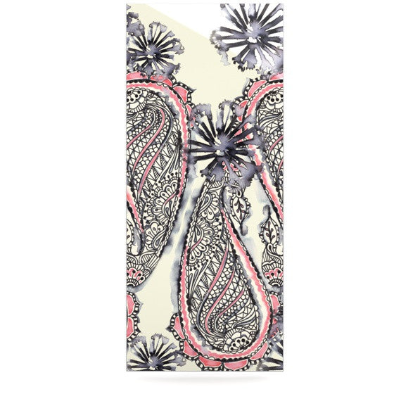 "Sonal Nathwani ""Inky Paisley Bloom"" Luxe Rectangle Panel - KESS InHouse  - 1"