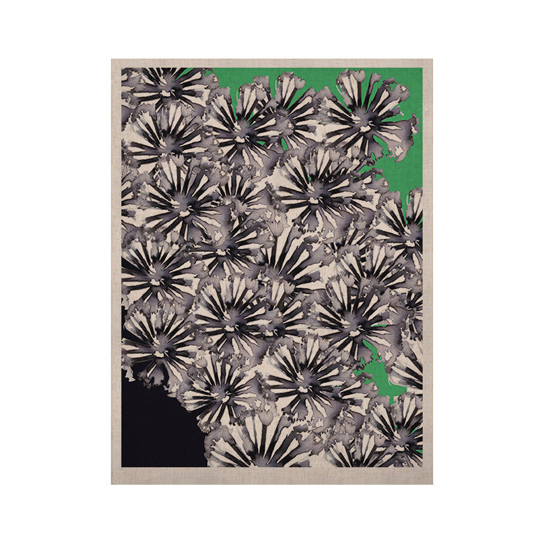 "Sonal Nathwani ""Flowers on Green"" KESS Naturals Canvas (Frame not Included) - KESS InHouse  - 1"
