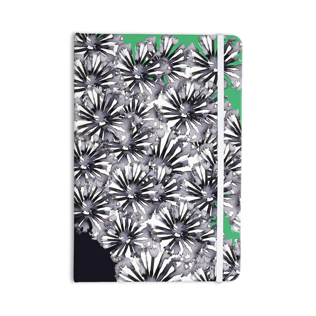 "Sonal Nathwani ""Flowers on Green"" Everything Notebook - KESS InHouse  - 1"